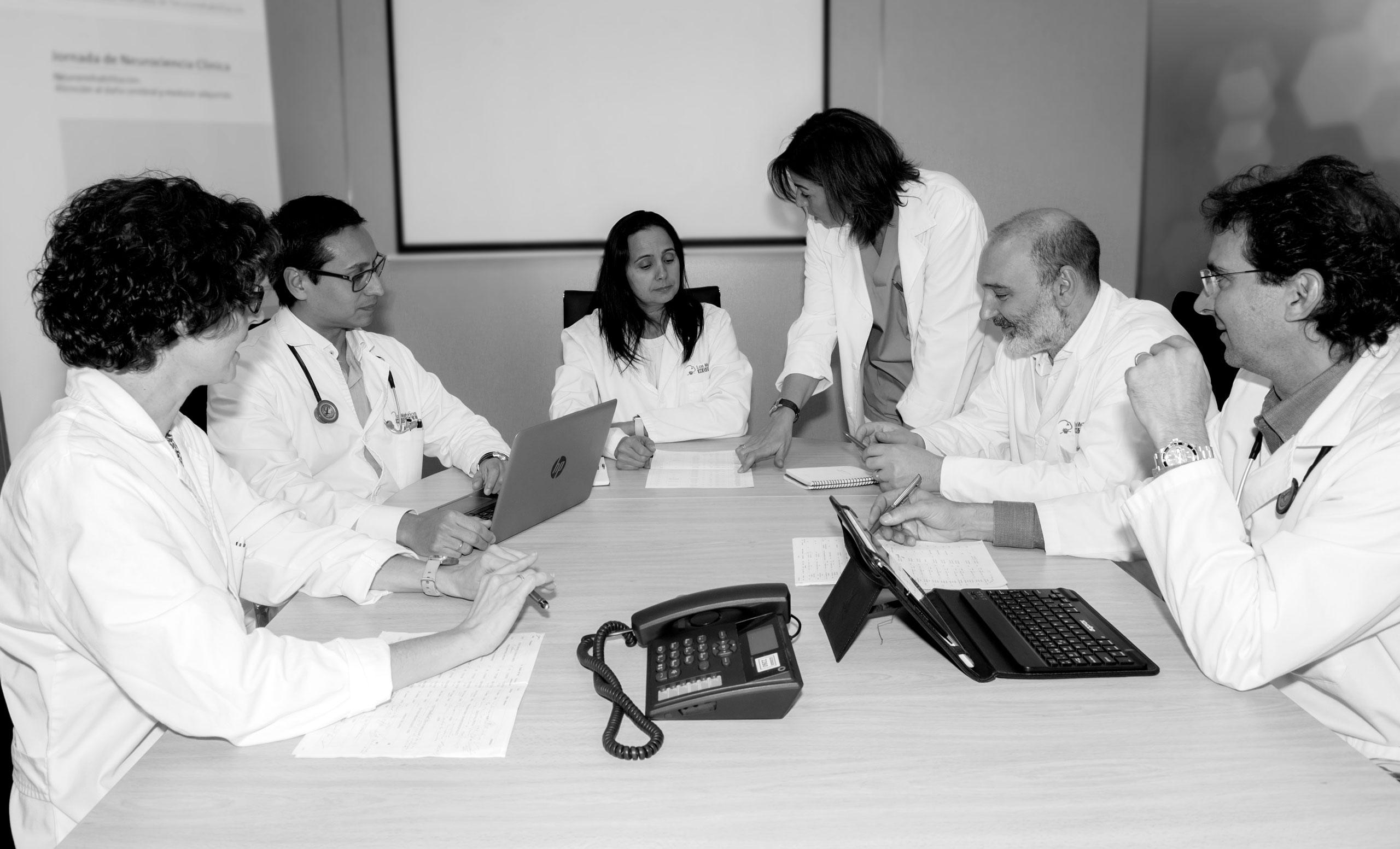 Equipo neurorrehabilitación, Hospital Los Madroños